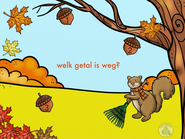Welk getal is weg? by TinyTap creator