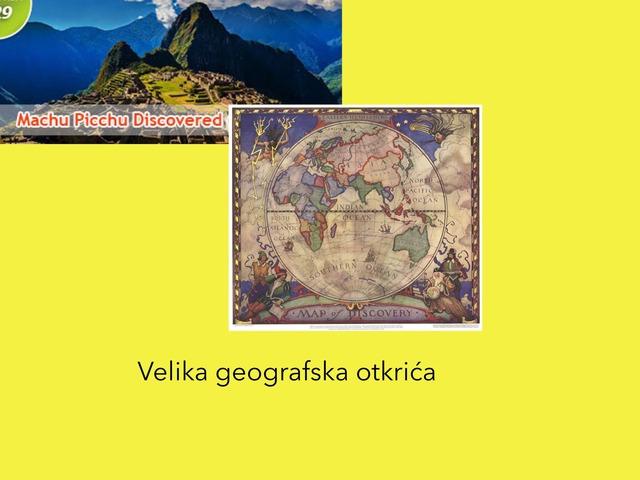 Velika geo. otkrica by Borka Sladonja