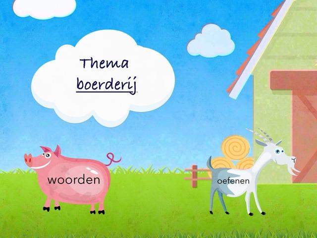 Woordenschat Thema Boerderij by Frieke Vanderzijpen