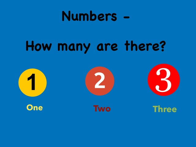 Numbers - How Many Are There ? by Benjamin Lee
