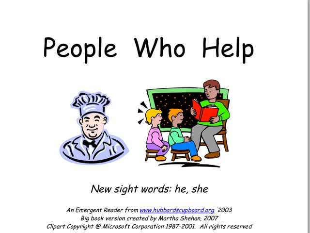 People Who Help by Jennifer palmer