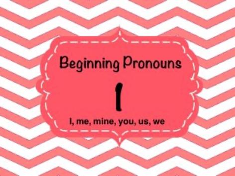 Beginning Pronouns by Ellen Weber