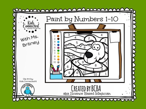 Paint By Number 1-10 Dog(UK) by Kids  Connected