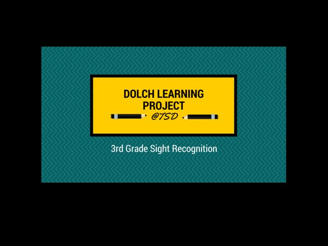 Vocabulary Introduction 1: Dolch 3rd Grade by TSD Library