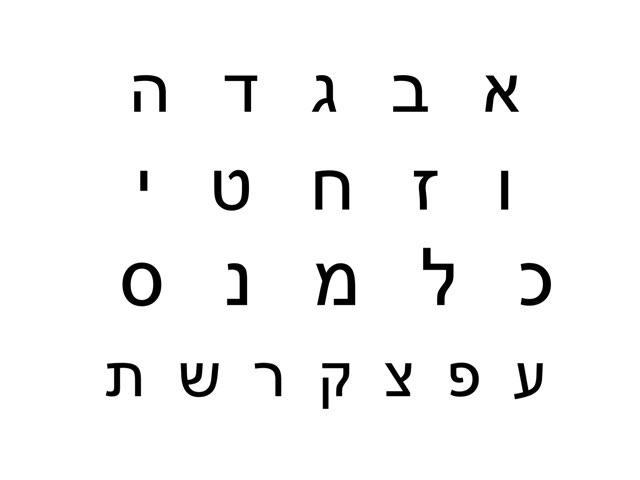 זיהוי אותיות  ה א״ב by צפנת הלוי