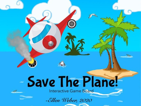 Save The Plane Game Boards by Ellen Weber