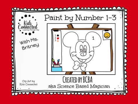 Paint By Number 1-3 Mickey by Kids  Connected