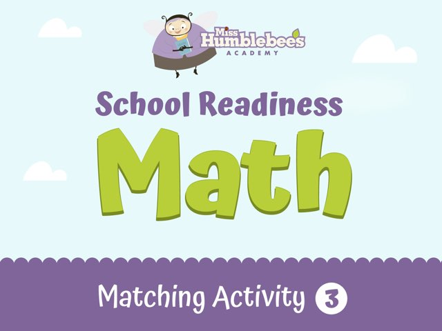 Matching Activity 3 - School Readiness by Miss Humblebee