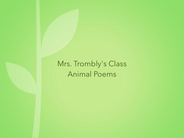 Mrs. Trombly  Animal Poems by Linda Lonergan