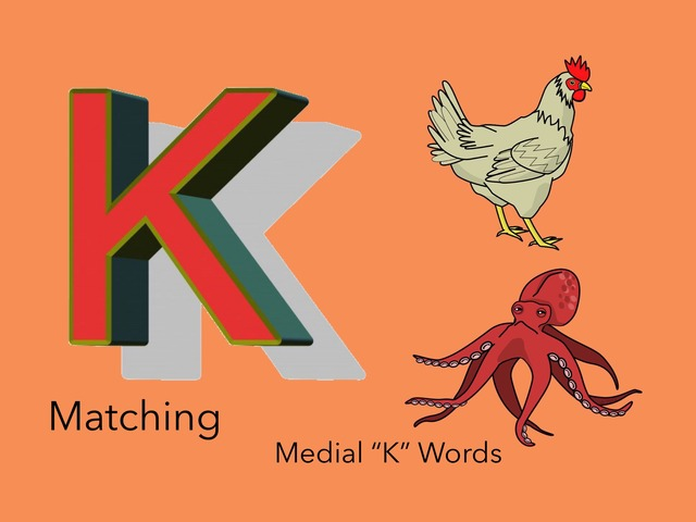 """Matching: Medial """"k"""" Words  by Carol Smith"""