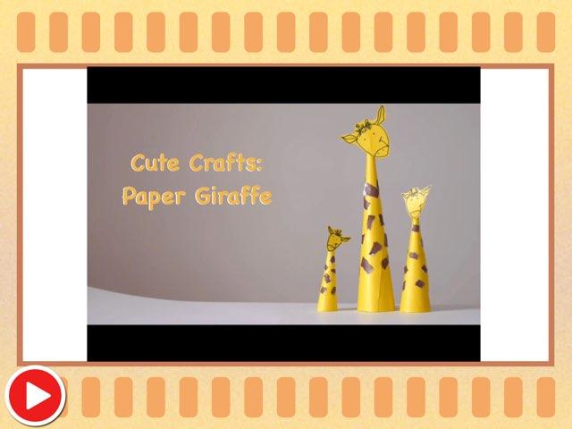 Cute Crafts: Paper Giraffe  by Miss Ruby