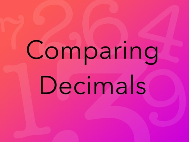 Comparing Decimals by Beth Christensen