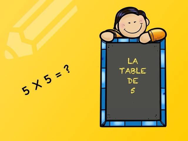 La table de 5 by Emmanuelle Botta