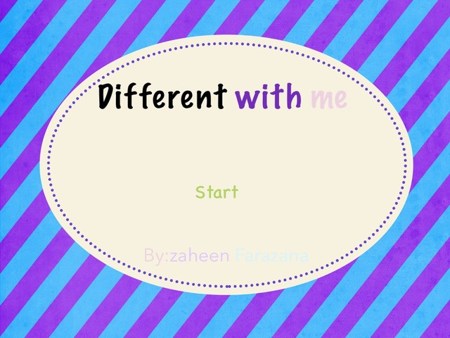 Different With Me by Idah Rahman