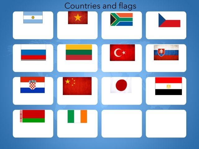 Edvino žaidimas Countries and flags by Penktokai VPG