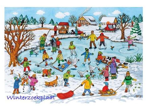 Winterzoekplaat by Nelleke Lürsen