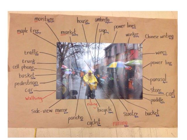 Raining market spelling by Russell Munkler