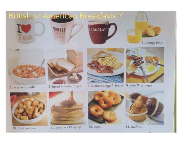 British Or American Breakfasts by Teacher Santa