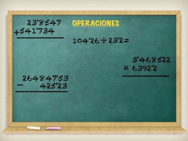 OPERACIONES Con Fracciones by Reyes Fernández Vázquez