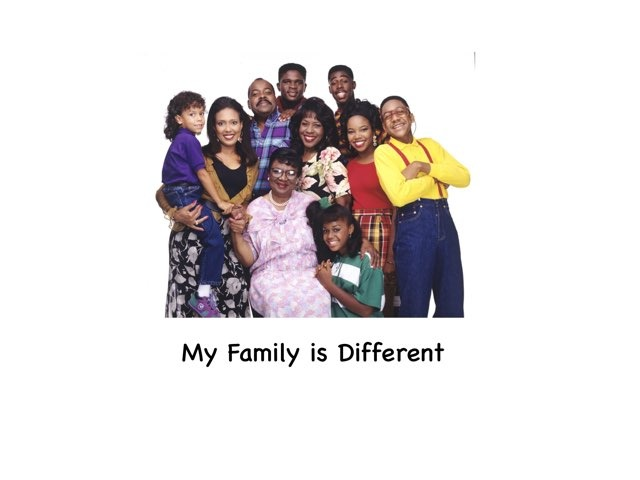 My Family Is Different. by Rebecca Jarvis
