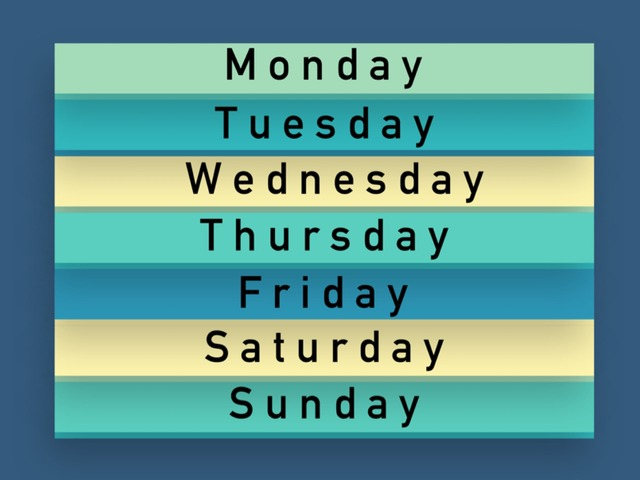Days of the week - Spelling - Missing Vowels by Teeny Tiny TEFL