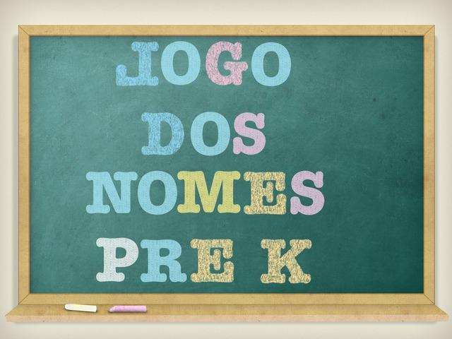 Jogo Dos Nomes Pre K B by Coordenação Tecnologias Educacionais