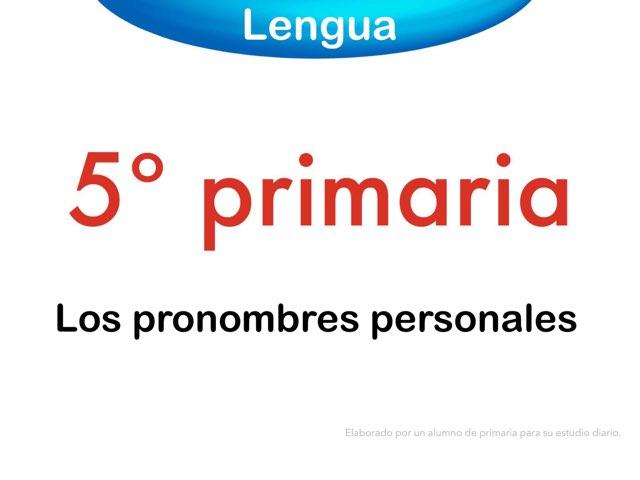 Los pronombres personales by Elysia Edu