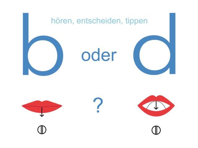 b oder d - hören, entscheiden, tippen by Marina Ruß