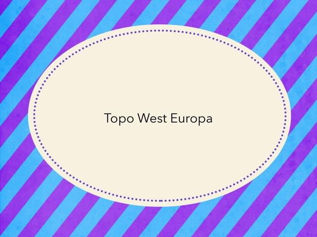 Topo West Europa by Linda Pierweijer