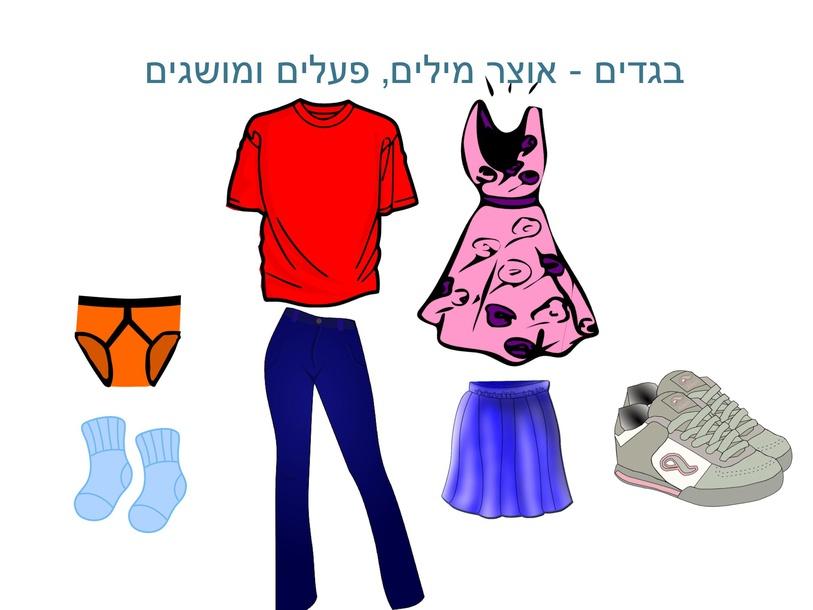 בגדים - אוצר מילים, פעלים ומושגים by Shiri Pinkas