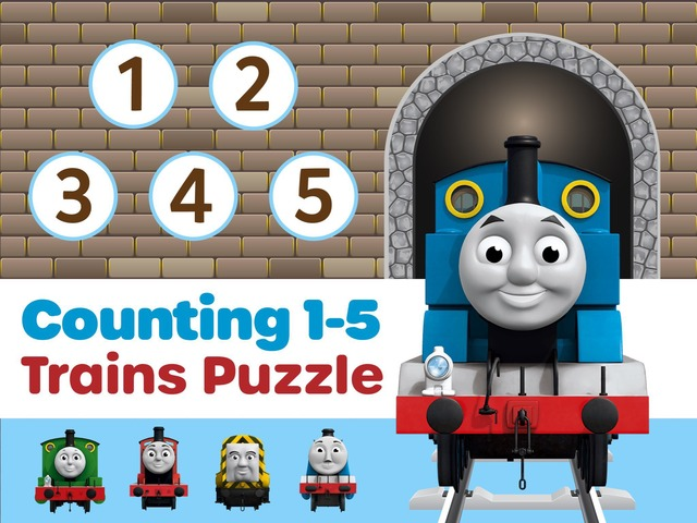Counting Trains Puzzle 1-5  by Animoca Brands