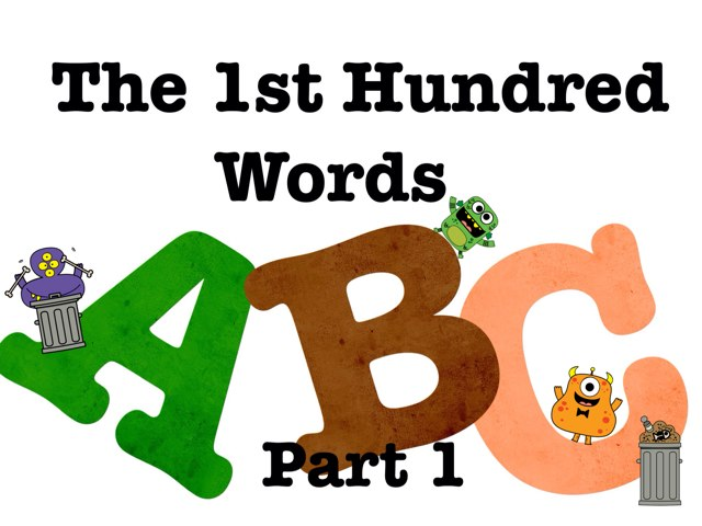1st 100 High Frequency Words - Part 1 by Jennifer Wentworth