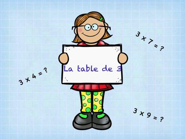 La Table De 3 by Emmanuelle Botta