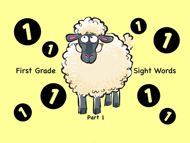 First Grade Sight Words 1 by Ellen Weber