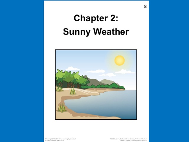 April Unique Unit Chapter 2: Sunny Weather  by Tanya Folmsbee