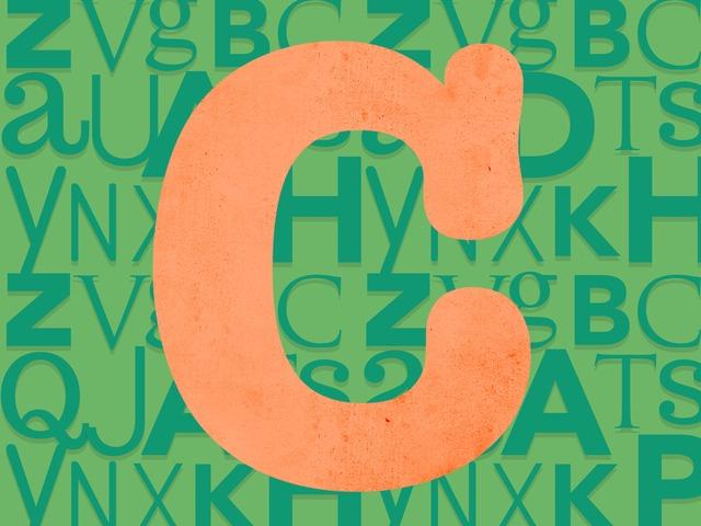 Letter C by Angela Bucci