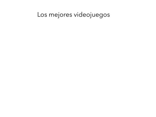 Mejores Videojuegos by Rafael Moreno