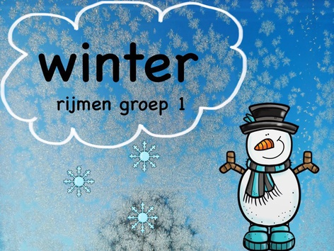 Winter Rijmen Groep 1 by Lotte Vaartjes