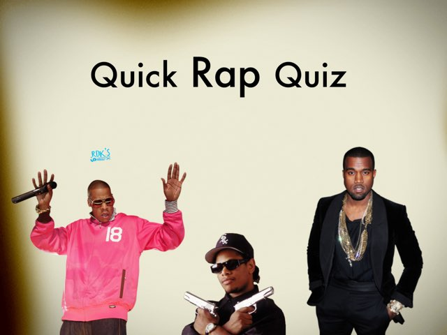 Quick Rap Quiz by Pop Quiz