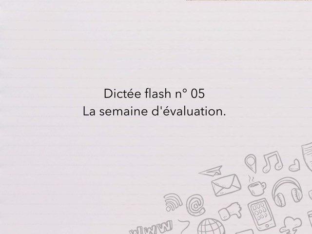 Dictée Flash N° 05 by Cédric Houbrechts