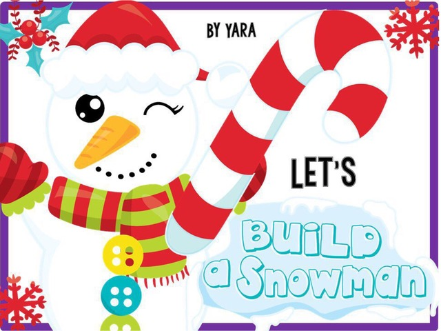 Let's Build A Snowman Object Match  by Yara Habanbou
