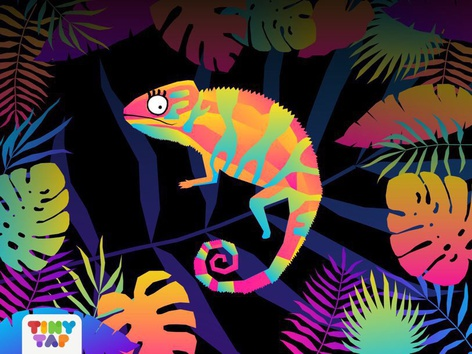 Where Is The Chameleon? 🌎 by Tiny Tap