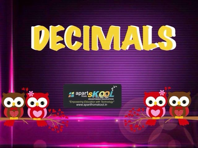Decimals by TinyTap creator