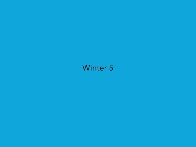 Winter 5 by Jenny Lehman