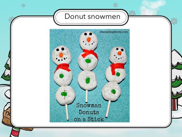 Recipe: Making Snowmen by Carol Smith