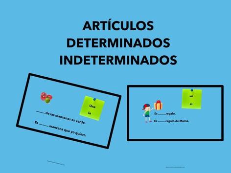 Artículos Determinados,indeterminados by Francisca Sánchez Martínez