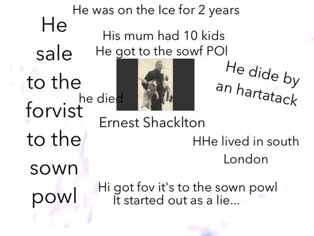 Ernest Shacklton by Birdwell Year2