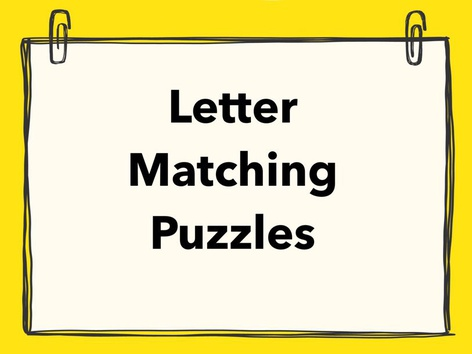Letter Matching Puzzles by Lori Board