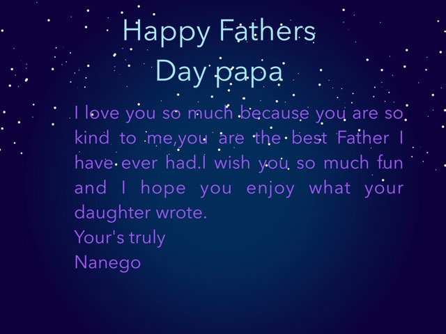 Fathers Day Card by Lekentle Mohlala