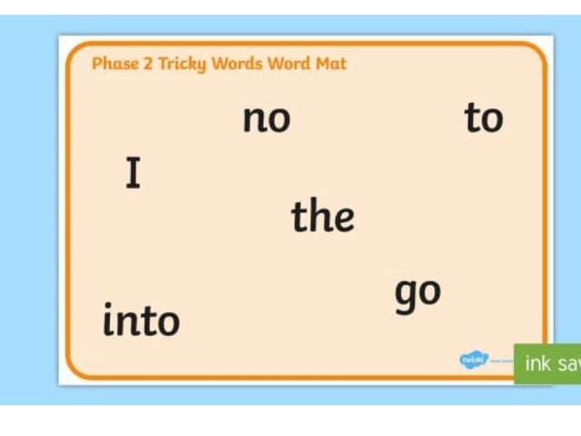 Tricky Words Phase2 Game by Chantalle Whitehouse